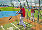 22 February 2013: Washington Nationals' first baseman Adam LaRoche takes batting practice during a full squad Spring Training workout at Space Coast Stadium in Viera, Florida. Mandatory Credit: Ed Wolfstein Photo *** RAW File Available ***