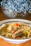 Chicken Noodle Soup with onions, carrots and celery.  ©2016. Jim Bryant Photo. All Rights Reserved.