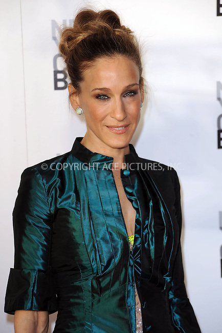 WWW.ACEPIXS.COM . . . . . ....April 29 2010, New York City....Actress Sarah Jessica Parker arriving at the 2010 New York City Ballet Spring Gala at the David H. Koch Theater, Lincoln Center on April 29, 2010 in New York City. ....Please byline: KRISTIN CALLAHAN - ACEPIXS.COM.. . . . . . ..Ace Pictures, Inc:  ..(212) 243-8787 or (646) 679 0430..e-mail: picturedesk@acepixs.com..web: http://www.acepixs.com