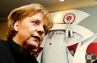 Germany's Federal Chancellor Angela Merkel  arrives for a European People's Party (EPP) meeting, the largest transnational continental political party, on the sidelines of a European Summit on March 13, 2008 in Brussels.  [&copy; by Wiktor Dabkowski] ....