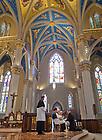 Aug. 25, 2012; Mr. Jarrod Michael Waugh, C.S.C. professes Final Vows to Rev. Thomas O'Hara, C.S.C., Provincial Superior...Photo by Matt Cashore/University of Notre Dame