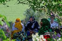 Somali women watch musicians at harvest festival