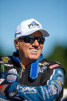 Aug 21, 2016; Brainerd, MN, USA; NHRA  funny car driver John Force during the Lucas Oil Nationals at Brainerd International Raceway. Mandatory Credit: Mark J. Rebilas-USA TODAY Sports
