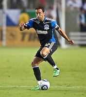 CARSON, CA – August 20, 2011: San Jose Earthquake midfielder Ramiro Corrales (12) during the match between LA Galaxy and San Jose Earthquakes at the Home Depot Center in Carson, California. Final score LA Galaxy 2, San Jose Earthquakes 0.
