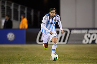 Argentina midfielder Ricardo Alvarez (16). Argentina and Ecuador played to a 0-0 tie during an international friendly at MetLife Stadium in East Rutherford, NJ, on November 15, 2013.