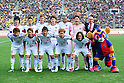 FCFC Tokyo team group line-up,.MARCH 3, 2012 - Football / Soccer :.F.C.Tokyo players (Top row - L to R) Hideto Takahashi, Yuhei Tokunaga, Aria Jasuru Hasegawa, Masato Morishige, Lucas, Hitoshi Shiota, (Bottom row - L to R) Yohei Kajiyama, Kenta Mukuhara, Tatsuya Yazawa, Kosuke Ota and Naohiro Ishikawa pose with head coach Ranko Popovic and the club mascot Tokyo Dorompa before the FUJI XEROX Super Cup 2012 match between Kashiwa Reysol 2-1 F.C.Tokyo at National Stadium in Tokyo, Japan. (Photo by AFLO)