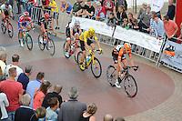 WIELRENNEN: SURHUISTERVEEN: 26-07-2016, Profronde 2016, Pieter Weening voor winnaar Chris Froome, ©foto Martin de Jong