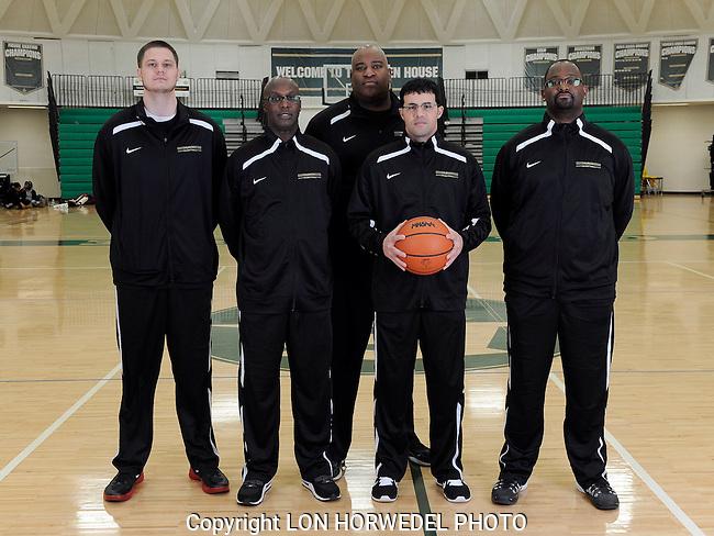 2014-15 Huron High School boy's varsity basketball team.