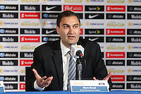 Santa Clara, CA - Tuesday, March 07, 2017: Dave Kaval during the unveiling of the CONCACAF 2017 Gold Cup Groups & Schedule at Levi's Stadium.