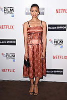 LONDON, ENGLAND. October 6, 2016: Gugu Mbathe-Raw at the London Film Festival premiere for &quot;Black Mirror&quot; at the Bluebird Cafe, Chelsea, London.<br /> Picture: Steve Vas/Featureflash/SilverHub 0208 004 5359/ 07711 972644 Editors@silverhubmedia.com