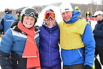 FRANCONIA, NH - MARCH 10:   Former UNH ski team members and alumni pose at the complettion of the Slalom event at the Division I Men's and Women's Skiing Championships held at Cannon Mountain on March 10, 2017 in Franconia, New Hampshire. (Photo by Gil Talbot/NCAA Photos via Getty Images)