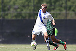 31 August 2014: Duke's Nat Eggleston. The Duke University Blue Devils hosted the Stetson University Hatters at Koskinen Stadium in Durham, North Carolina in a 2014 NCAA Division I Men's Soccer match. Duke won the game 8-2.