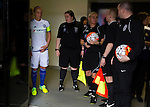 Doncaster Rovers Belles 1 Chelsea Ladies 4, 20/03/2016. Keepmoat Stadium, Womens FA Cup. The match officials and the Chelsea Captain line up in the tunnel. Photo by Paul Thompson.
