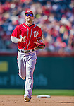 7 September 2014: Washington Nationals outfielder Bryce Harper trots back to the dugout during a game against the Philadelphia Phillies at Nationals Park in Washington, DC. The Nationals defeated the Phillies 3-2 to salvage the final game of their 3-game series. Mandatory Credit: Ed Wolfstein Photo *** RAW (NEF) Image File Available ***