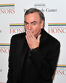 Neil Diamond blows a kiss to the photographers as he arrives for the formal Artist's Dinner honoring the recipients of the 2011 Kennedy Center Honors hosted by United States Secretary of State Hillary Rodham Clinton at the U.S. Department of State in Washington, D.C. on Saturday, December 3, 2011. The 2011 honorees are actress Meryl Streep, singer Neil Diamond, actress Barbara Cook, musician Yo-Yo Ma, and musician Sonny Rollins..Credit: Ron Sachs / CNP