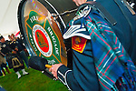 Fund raiser for firefighter Ray Pfeifer on Saturday, March 31, 2012, at East Meadow Firefighters Benevolent Hall, New York, USA.The Boston Gaelic Fire Brigade Pipes and Drums band performed. (NOTE: Motion blur, extreme angle)
