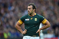 Bismarck Du Plessis of South Africa looks on during a break in play. Rugby World Cup Pool B match between South Africa and the USA on October 7, 2015 at The Stadium, Queen Elizabeth Olympic Park in London, England. Photo by: Patrick Khachfe / Onside Images