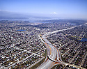 BI34,382...WASHINGTON - 1967 photograph of Interstate 5 through residential section of Seattle.