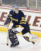 Joe Cannata (Merrimack - 35) - The Boston College Eagles defeated the visiting Merrimack College Warriors 3-2 on Friday, October 29, 2010, at Conte Forum in Chestnut Hill, Massachusetts.