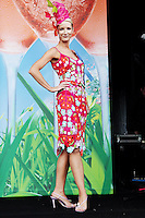 5/8/2010.Blossom Hill Ladies Day. Winner of the most colourful outfit Laoise Hughes at the Blossom Hill Ladies Day at the Fáilte Ireland Dublin Horse Show at RDS. Picture James Horan/Collins Photos