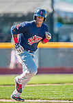 5 September 2016: Lowell Spinners infielder Jerry Downs in action against the Vermont Lake Monsters at Centennial Field in Burlington, Vermont. The Monsters defeated the Spinners 9-5 to close out their 2016 NY Penn League season. Mandatory Credit: Ed Wolfstein Photo *** RAW (NEF) Image File Available ***