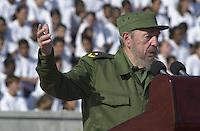 Cuban President Fidel Castro talking. 2000 in Havana, Cuba. . Credit: Jorge Rey/MediaPunch
