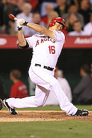 06/08/11 Anaheim, CA: Los Angeles Angels catcher Hank Conger #16 during an MLB game between the Tampa Bay Rays and The Los Angeles Angels  played at Angel Stadium. The Rays defeated the Angels 4-3 in 10 innings