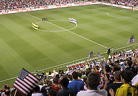 COLUMBUS, OHIO - SEPTEMBER 11, 2012:  Players of the USA MNT and Jamaica observe a moments silence before a CONCACAF 2014 World Cup qualifying  match at Crew Stadium, in Columbus, Ohio on September 11. USA won 1-0.
