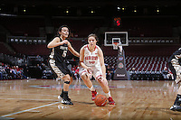 Ohio State Buckeyes guard Cait Craft (13) is guarded by Army Black Knights guard Kelsey Minato (5) during the first half of Friday's NCAA Division I basketball game at Value City Arena in Columbus on December 13, 2013. (Barbara J. Perenic/The Columbus Dispatch)