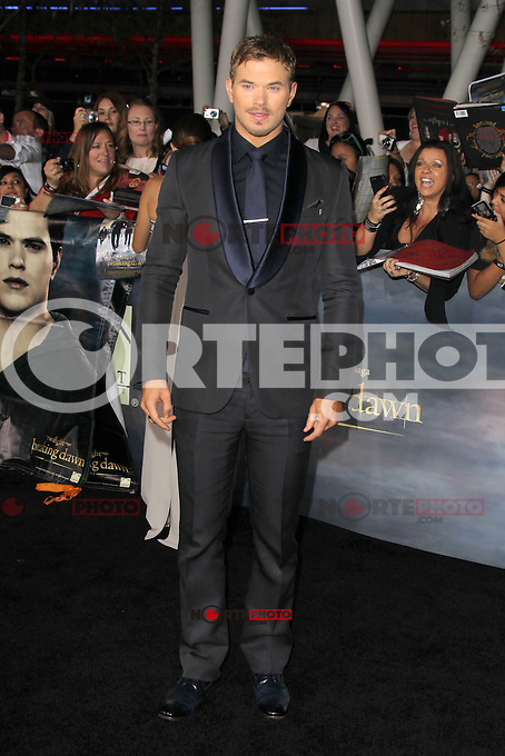 LOS ANGELES, CA - NOVEMBER 12: Kellan Lutz at the premiere of Summit Entertainment's 'The Twilight Saga: Breaking Dawn - Part 2' at the Nokia Theatre L.A. Live on November 12, 2012 in Los Angeles, California. Credit: mpi29/MediaPunch Inc. /NortePhoto