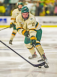 16 November 2013: University of Vermont Catamount Forward Jake Fallon, a Junior from Southlake, Texas, in action against the Providence College Friars at Gutterson Fieldhouse in Burlington, Vermont. The Friars shut out the Catamounts to sweep the 2-game weekend Hockey East Series. Mandatory Credit: Ed Wolfstein Photo *** RAW (NEF) Image File Available ***