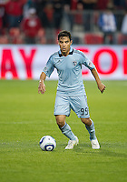 Sporting KC forward Omar Bravo #99 in action during an MLS game between Sporting Kansas City and the Toronto FC at BMO Field in Toronto on June 4, 2011..The game ended in a 0-0 draw...