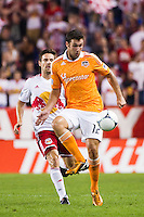 Will Bruin (12) of the Houston Dynamo. The New York Red Bulls defeated the Houston Dynamo 2-0 during a Major League Soccer (MLS) match at Red Bull Arena in Harrison, NJ, on August 10, 2012.