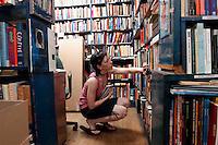 The Gotham Book Mart at it's original location on West 47 Street. (© Frances M. Roberts)