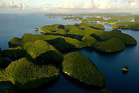 AERIAL OF THE ROCK ISLANDS PALAU, MICRONESIA