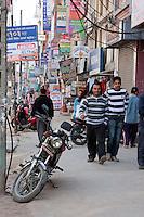Nepal, Kathmandu. Market, temple, and street scenes.