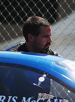 May 5, 2012; Commerce, GA, USA: NHRA pro stock driver Chris McGaha during qualifying for the Southern Nationals at Atlanta Dragway. Mandatory Credit: Mark J. Rebilas-