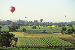 Ballooning over Napa Valley, California