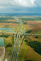 Aerial View of Alligator Alley (also known as Everglades Parkway)