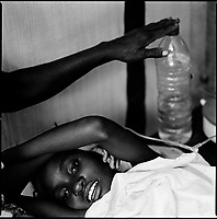 Luanda, Angola, May 20, 2006.Juana, 7, is a patient at the Cacuaco MSF Belgium operated cholera field clinic. Between February and June 2006, more than 30000 people were infected with cholera in Angola's worse outbreak ever; more than 1300 died.