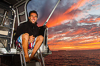 CLOUDBREAK, Tavarua/Fiji (Sunday, June 3, 2012) - The long-awaited return of the world?s best surfers to the iconic lefthander of Cloudbreak was realised today as the ASP Top 34 took on the open ocean reef pass for Round 1 of the Volcom Fiji Pro.. .Event No. 4 of 10 on the 2012 ASP World Championship Tour, the Volcom Fiji Pro enjoyed solid six-to-eight foot (2 - 2.5 metre) waves at the primary venue of Cloudbreak today, and there was no shortage of action as the world?s best tore into the conditions on offer.. .Mitch Coleborn (AUS), 25, wildcard into the Volcom Fiji Pro, caused the upset of the day, besting reigning 11-time ASP World Champion Kelly Slater (USA), 40, as well as dangerous goofy-footer Kai Otton (AUS), 32, in their non-elimination Round 1 bout. After a rough start, including suffering a number of waves on the head, Coleborn rebounded in sensational fashion, grabbing 9.27 followed by an 8.10 for the day?s highest heat total of a 17.37 out of a possible 20. Photo: joliphotos.com
