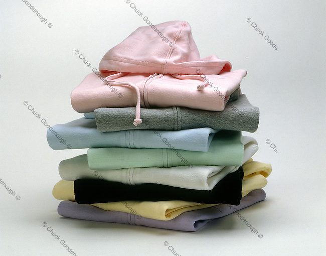 Off Figure Styling Apparel Folded in a Pile