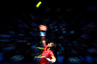 Rafael Nadal defeated Ryan Sweeting in round two of the men's singles at the 2011 Australian Open.