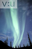 Aurora Borealis or Northern Lights over the Brooks Range, Alaska.