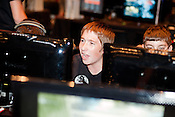 August 29, 2010. Raleigh, North Carolina.. Faces of amateur Halo 3 players as they compete. . Major League Gaming (MLG), the league for professional videogame players, held their 50th Pro Circuit competition at the Raleigh Convention Center, with gamers from all over the country coming to for 3 days of competition in Halo 3, Tekken 6, Super Smash Bros. Brawl, Starcraft 2 and World of Warcraft.