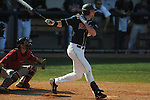 Ole Miss' Matt Tracy (29) bats at Oxford-University Stadium in Oxford, Miss. on Sunday, March 20, 2011.  (AP Photo/Oxford Eagle, Bruce Newman)