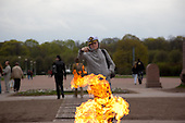 flamme for the unknown soldier, Saint petersburg.///.flamme au soldat inconnu sur le champs de mars. saint petersbourg