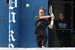 22 March 2015: Wake Forest's Romain Bogaerts (BEL). The Duke University Blue Devils hosted the Wake Forest University Demon Deacons at Ambler Stadium in Durham, North Carolina in a 2014-15 NCAA Division I Men's Tennis match. Duke won the match 4-3.