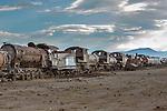 Rusted old trains, Altiplano, Bolivia