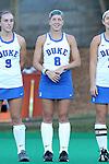 16 October 2015: Duke's Stephanie Pezzuti. The University of North Carolina Tar Heels hosted the Duke University Blue Devils at Francis E. Henry Stadium in Chapel Hill, North Carolina in a 2015 NCAA Division I Field Hockey match. UNC won the game 2-1.
